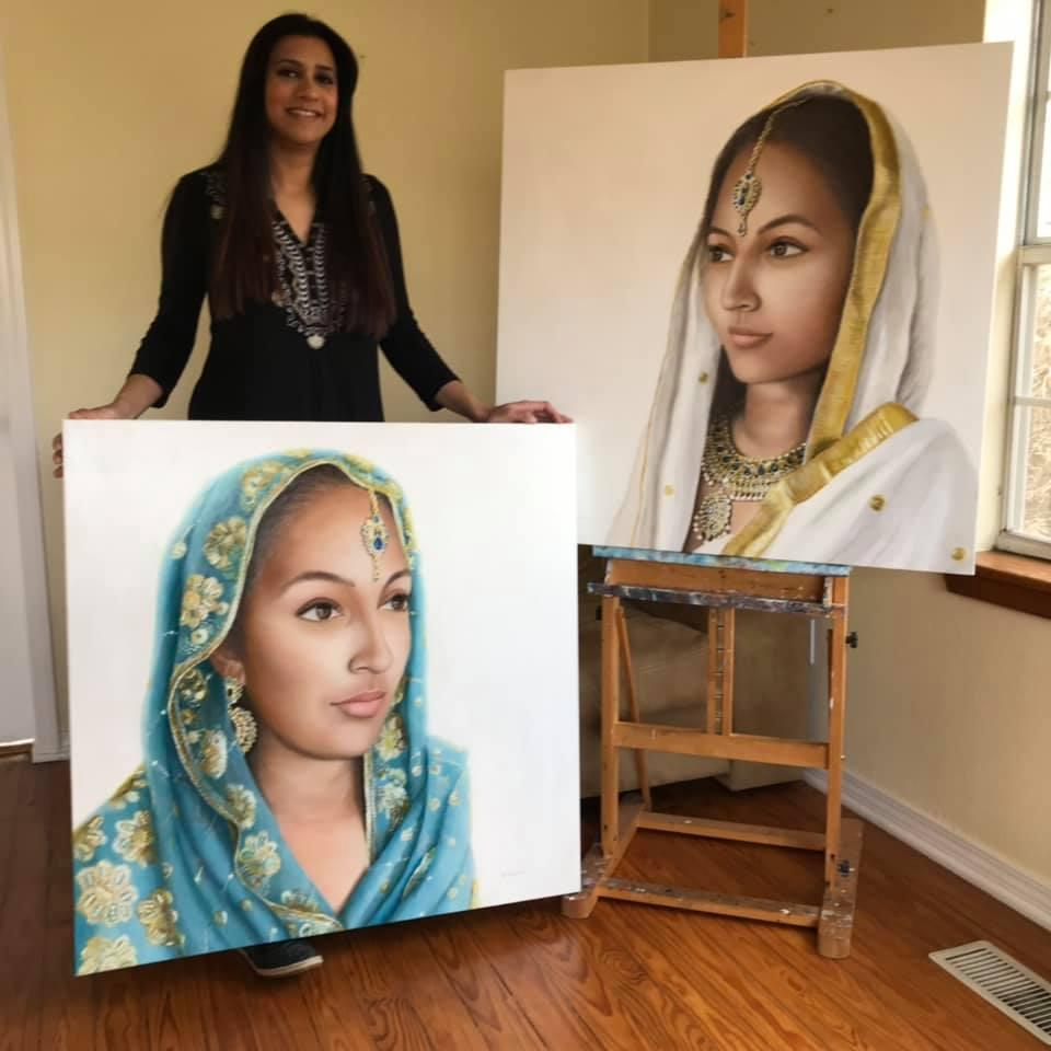KUAF Arts Beat Born to Pakistani Immigrant Parents in London She Now Paints Her Culture in Arkansas