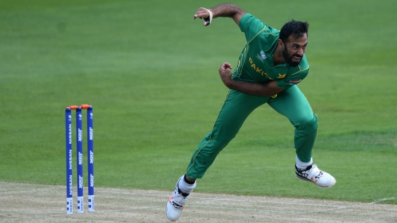 BIRMINGHAM, UNITED KINGDOM - MAY 27: Wahab Riaz of Pakistan bowls during the ICC Champions Trophy Warm-up match between Bangladesh and Pakistan at Edgbaston on May 27, 2017 in Birmingham, England. (Photo by Harry Trump - IDI/IDI via Getty Images)
