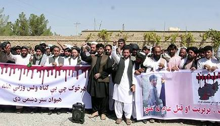 Activists, relatives in Helmand seek justice for civilian deaths