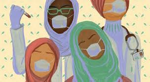 This fashion designer is making hijabs for Covid-19 frontline workers