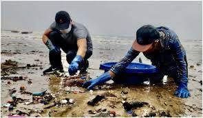 Randeep Hooda cleans the beach amid the COVID-19 pandemic