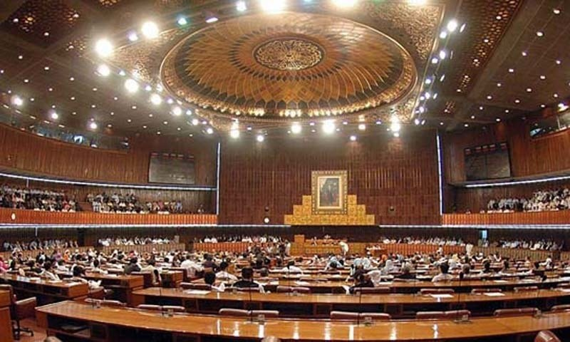 ISLAMABAD: June 11 – Parliamentarians listens Federal Minister for Finance, Economic Affairs and Statistics Syed Naveed Qamar presenting the national budget 2008-09 during National Assembly session at Parliament House. The minister presents the Rs. 2010 billion budget and size is 29.7% higher than the size of estimates for 2007-08. APP photo by Afzaal Chaudhry