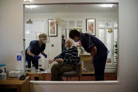 A day to remember London nursing home greets virus vaccine