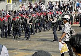 Burma US condemns brutal attacks of security forces on protestors