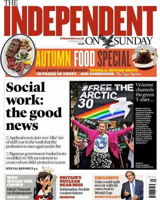 Independent on Sunday – Social workers: the good news