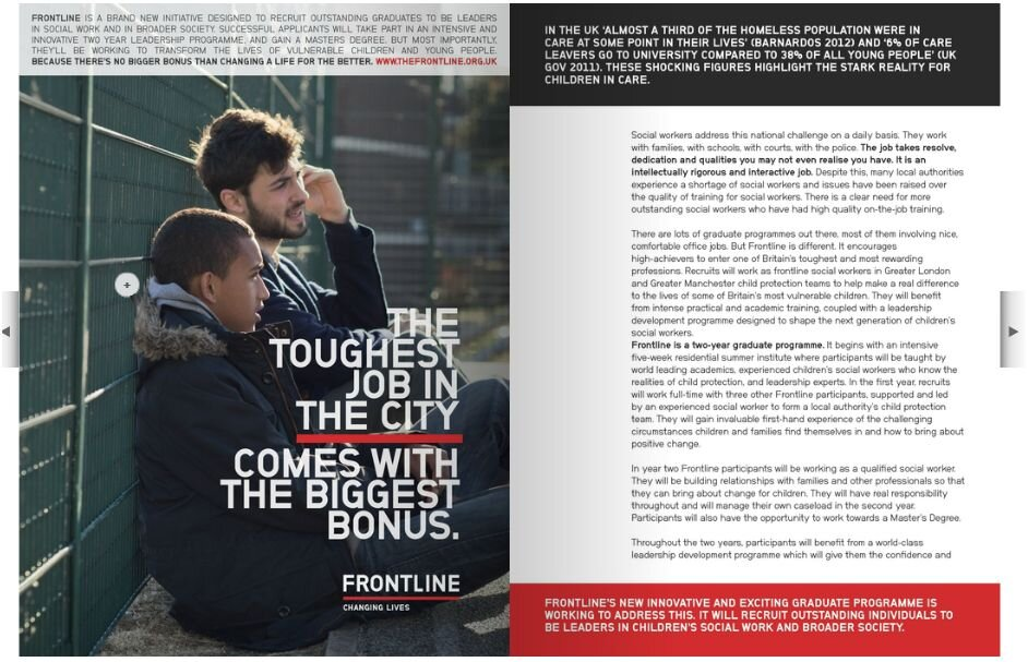 Big Choice Magazine – Frontline feature