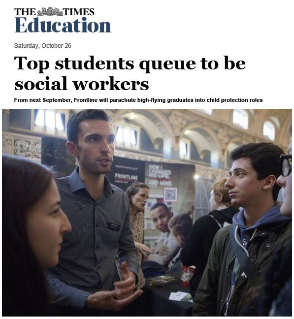 The Times – Top students queue to be social workers