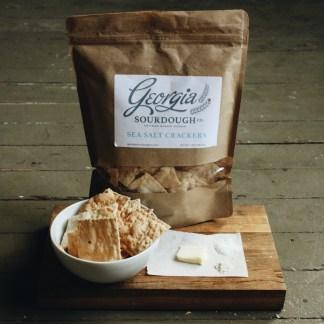 Georgia Sourdough Sea Salt Crackers