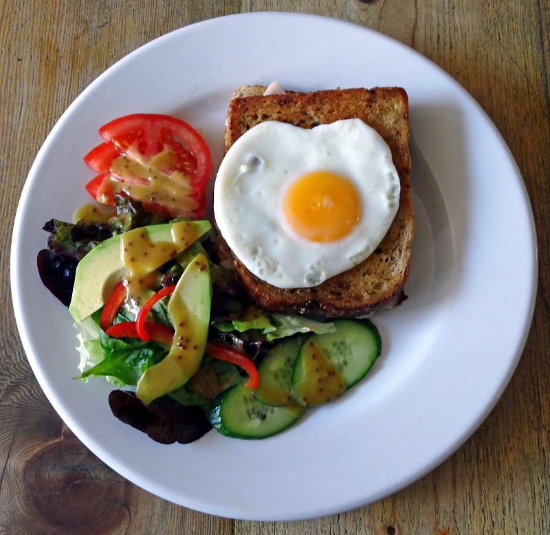 finsbury park restaurants, croque madame, the front room cafe
