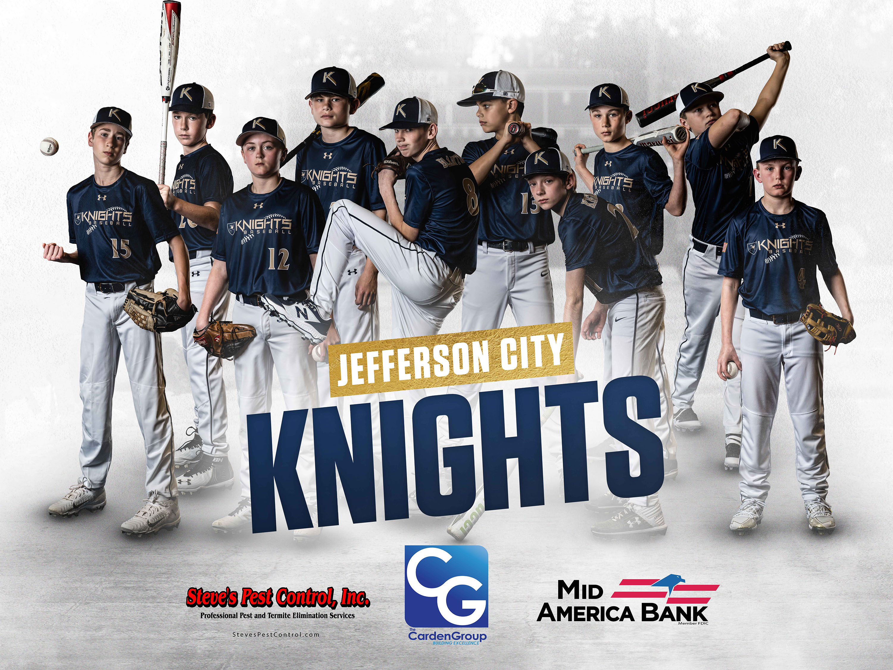 Knights 12 Team Poster