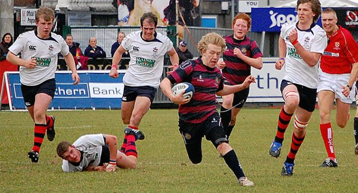 Stuart Olding has come a long way from this little mop topped urchin in the 2011 Schools Cup final!