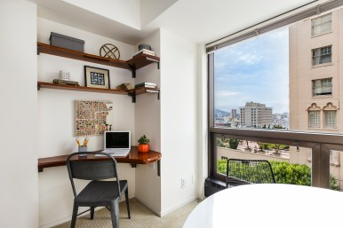 1177 California #304, Gramercy Towers Built in Office Nook
