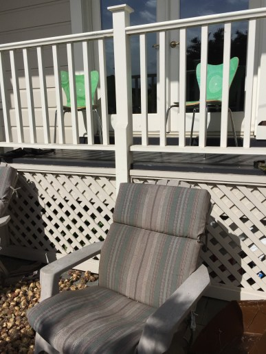 Outdoor seating before...