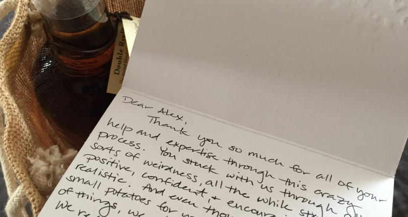 Kind Words And A Bottle Of High West