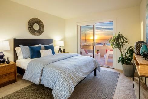 875 La Playa #179 | Outer Richmond | Second Bedroom w/ Ocean Views
