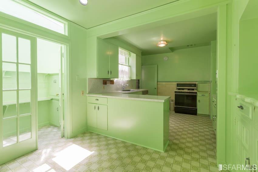 $715,000 Over Asking For Central Sunset Home With Awesome Lime Green Kitchen