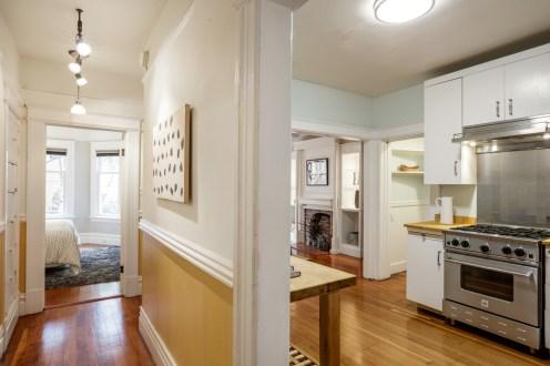 1010 Cole St. Hallway, Kitchen, Master
