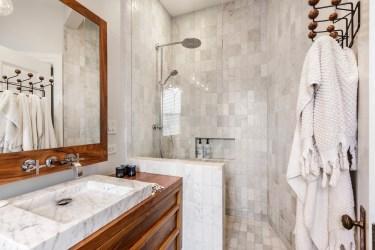 179 Carl Designer Bathroom w Walk In Shower