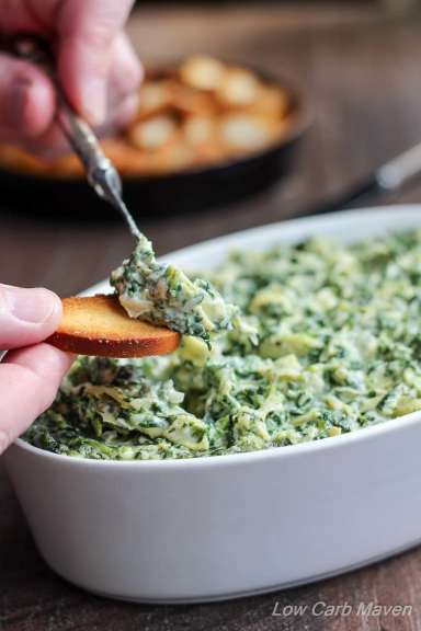 Best Low Carb Spinach Artichoke Dip