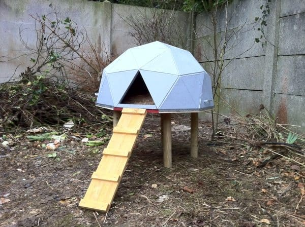 55 diy chicken coop plans for free frugal chicken for Geodesic home plans