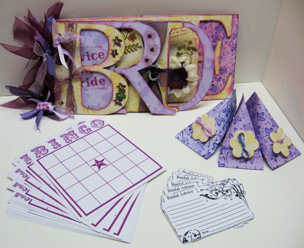 Bride wordbook and favors