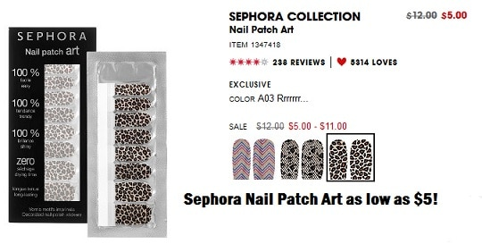 Review Sephora Nail Patch Art