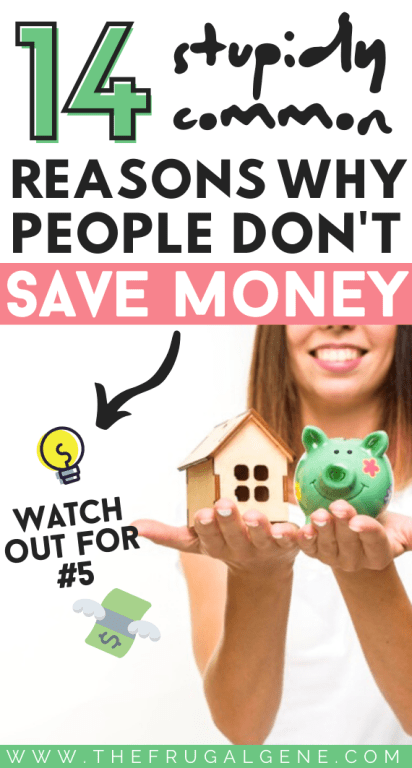 On average, Americans save just under 5% of their income. Money management is critical. So why is it that some people don't or won't save more money? Is there ever a good excuse to not save money?! - Saving money, money saving tips & tricks, personal finances, budgeting, save more money tips, ideas, save cash fast, ways to save, hacks, motivation, goals, save money for retirement, how to stop being poor, what to do when broke, quick, bad money habits, financial planning, frugal living #moneytips