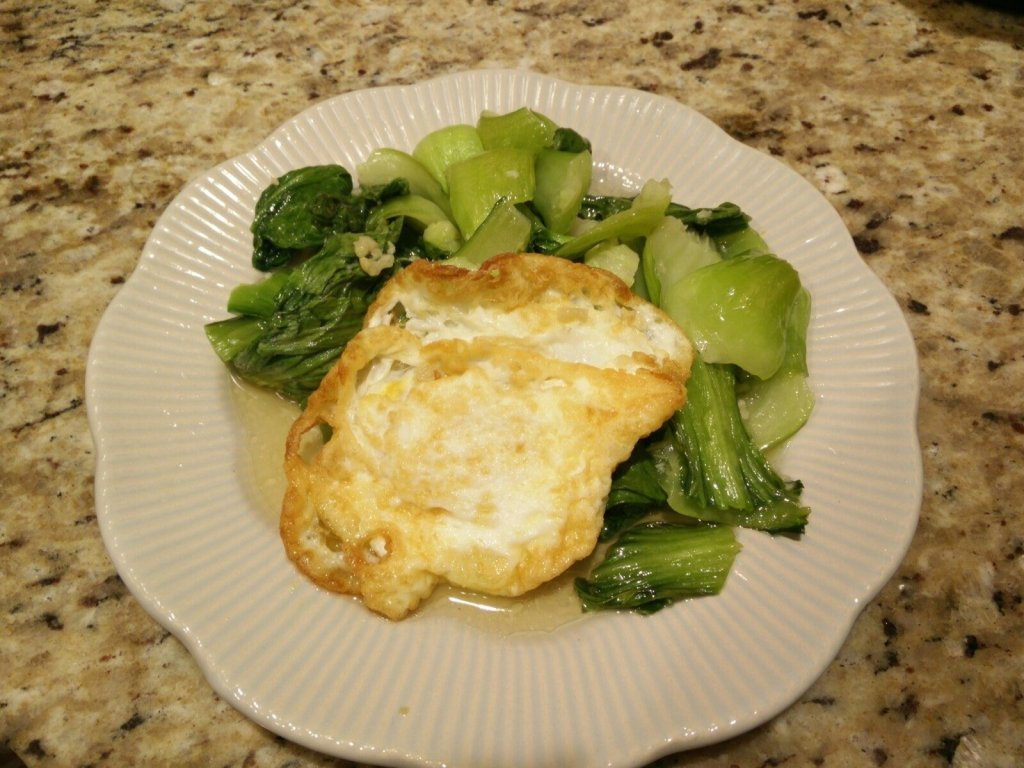 baby-bok-choy-fried-egg