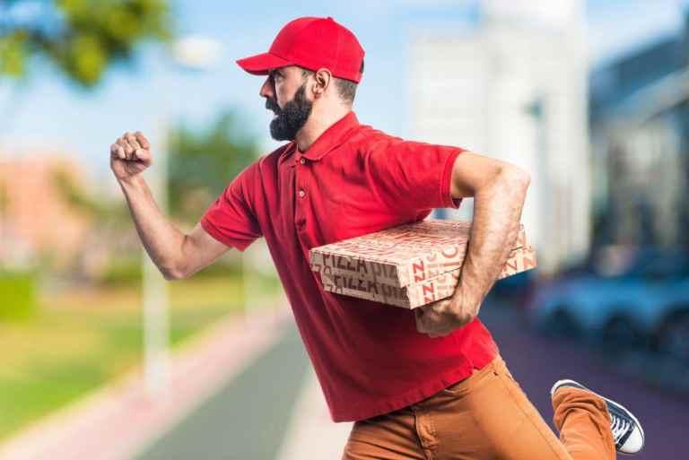 rushing business man