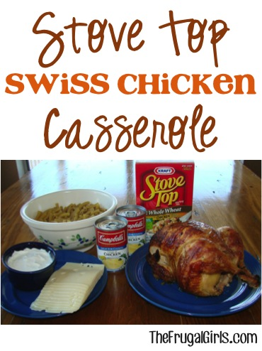 Stove Top Stuffing Chicken Casserole Recipe from TheFrugalGirls.com