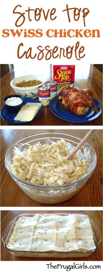 Stove Top Swiss Casserole Recipe - from TheFrugalGirls.com
