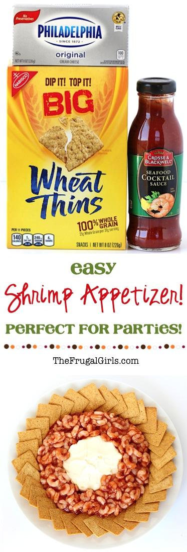 Easy Shrimp Appetizer Recipes for Parties - from TheFrugalGirls.com
