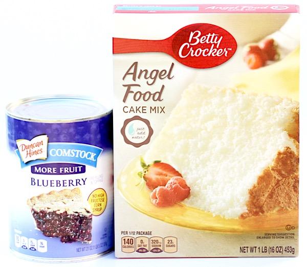 Blueberry Angel Food Dump Cake