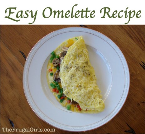 Easy Guilt Free Omelette Recipe from TheFrugalGirls.com