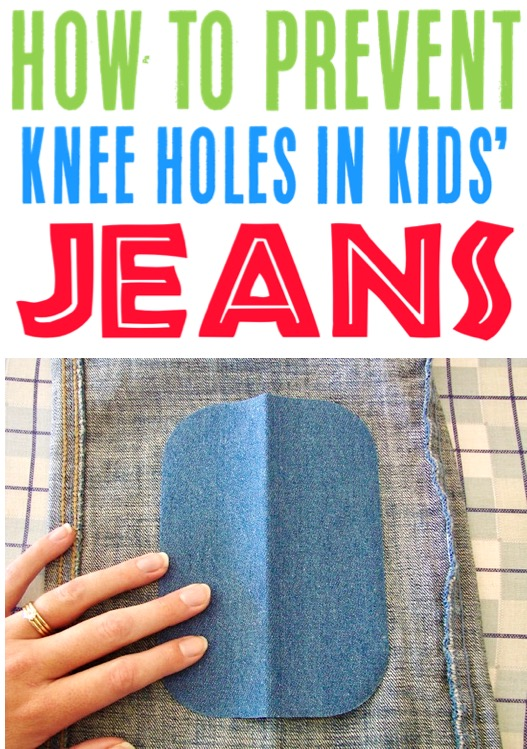 Frugal Living Ideas and Tips for Beginners - Kids Fashion How to Prevent Knee Holes in Jeans and Pants