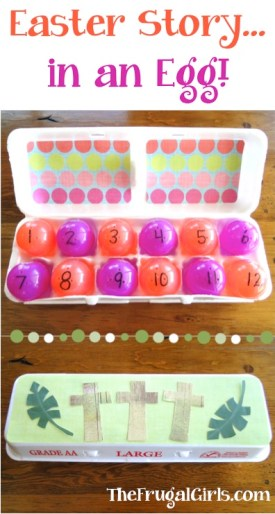 Easter Story in an Egg - Resurrection Eggs from TheFrugalGirls.com