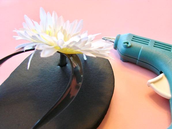 Handmade Flower Flip Flops Tutorial