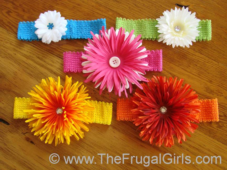 How To Make Cute Flower Headbands For Babies And Girls