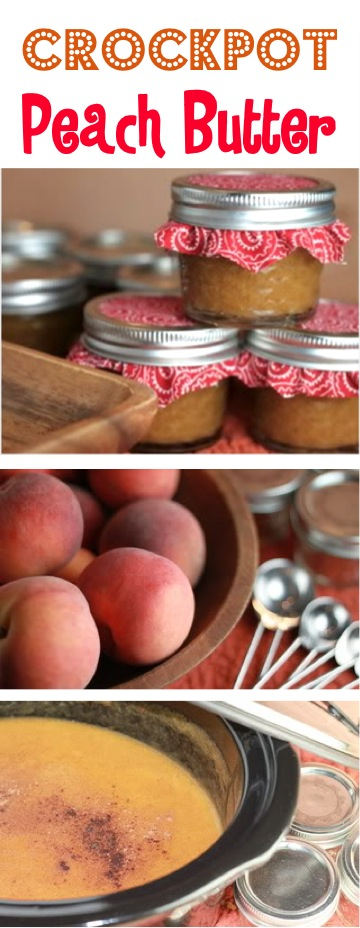 Easy Crockpot Peach Butter Recipe at TheFrugalGirls.com