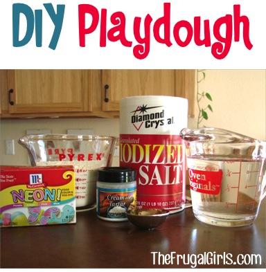 DIY Playdough Recipe from TheFrugalGirls.com