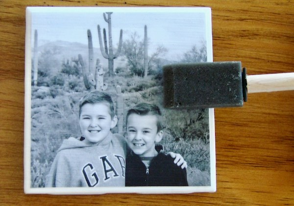 How to Make Photo Coasters on Tile