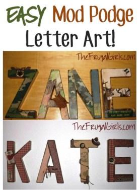 Easy Mod Podge Letter Art