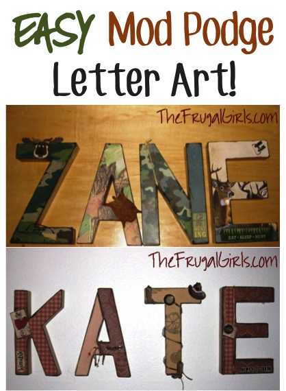Paper Mache Letters Craft: DIY Personalized Name Art at TheFrugalGirls.com