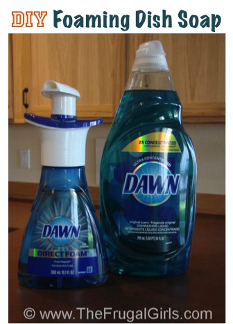 How to Make Foaming Dish Soap from TheFrugalGirls.com