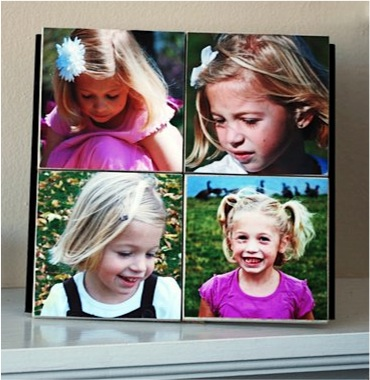 How to Make a Photo Tile Collage at TheFrugalGirls.com