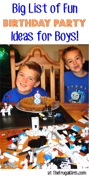 22 Boys Birthday Party Ideas at Home! - The Frugal Girls