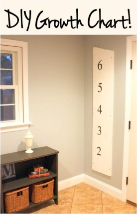 DIY Growth Chart for Kids