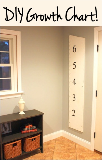 DIY Growth Chart for Kids at TheFrugalGirls.com