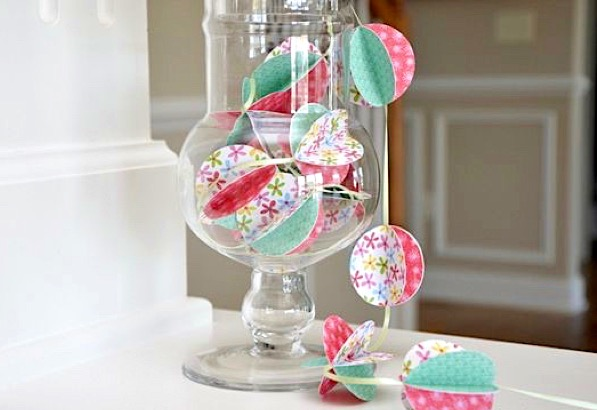 DIY Paper Ball Garland