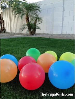 Birthday Balloon Game with Hidden Dollar Bills - TheFrugalGirls.com